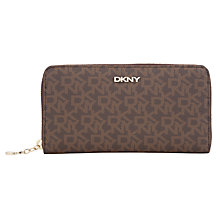 Buy DKNY Coated Logo Carryall Purse, Brown Mix Online at johnlewis.com