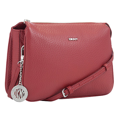 Buy DKNY Tribeca Leather Triple Across Body Bag Online at johnlewis.com