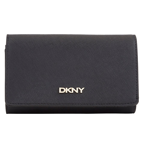 Buy DKNY Saffiano Leather Medium Carryall Purse, Black Online at johnlewis.com