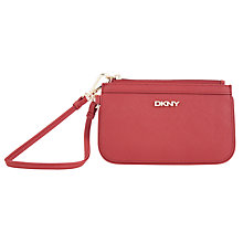 Buy DKNY Saffiano Wristlet Leather Wallet Online at johnlewis.com