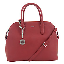 Buy DKNY Tribeca Zip Leather Bowling Bag Online at johnlewis.com
