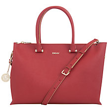 Buy DKNY Saffiano Leather Large Zip Top Shopper Bag Online at johnlewis.com
