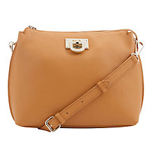 Buy DKNY Vintage Leather Across Body Bag, Tan Online at johnlewis.com