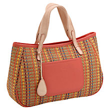Buy Tula Straw Medium Leather Grab Handbag, Multi Online at johnlewis.com