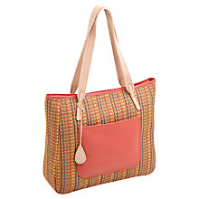 Buy Tula Straw Large Leather Tote Handbag Online at johnlewis.com
