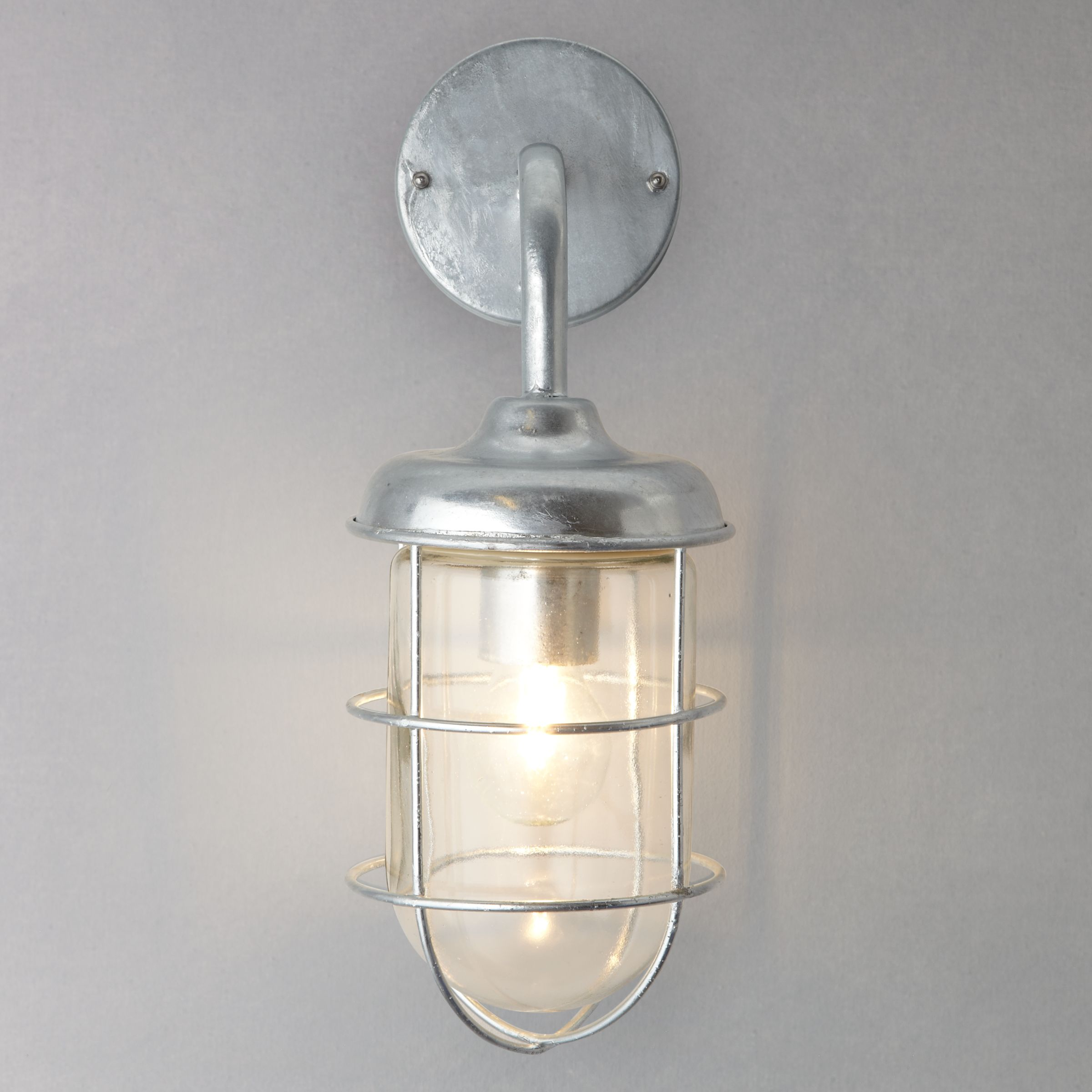 Garden Trading Outdoor Wall Lights : Buy Garden Trading Company St Ives Harbour Galvanised Outdoor Wall Light John Lewis