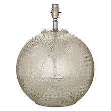 Buy John Lewis Sarita Textured Glass Ball Lamp Base Online at johnlewis.com