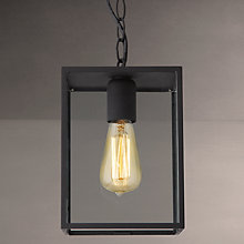 Buy Astro Homefield Outdoor Ceiling Pendant, Black Online at johnlewis.com