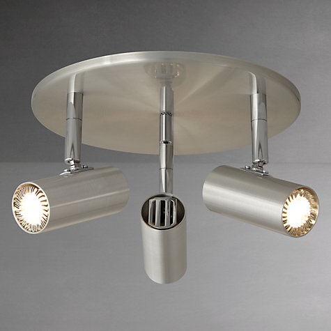 Buy John Lewis Clarke LED Spotlight Plate, 3 Light, Steel Online at johnlewis.com