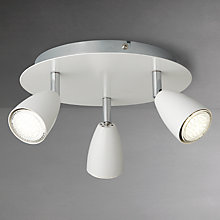 Buy John Lewis Thea GU10 LED Spotlight Plate, 3 Light, White Online at johnlewis.com