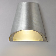 Buy Garden Trading St Ives Funnel Galvanised Outdoor Wall Light Online at johnlewis.com