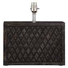 Buy John Lewis Anona Diamond Wood Block Lamp Base Online at johnlewis.com