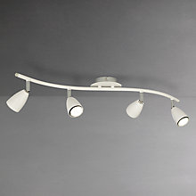 Buy John Lewis Thea GU10 LED Spotlight Bar, 4 Light, White Online at johnlewis.com