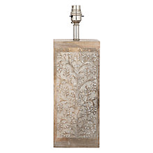 Buy John Lewis Arianne Floral Wood Block Lamp Base Online at johnlewis.com
