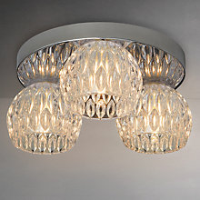 Buy John Lewis Toledo Crystal Flush Ceiling Light, 3 Light Online at johnlewis.com