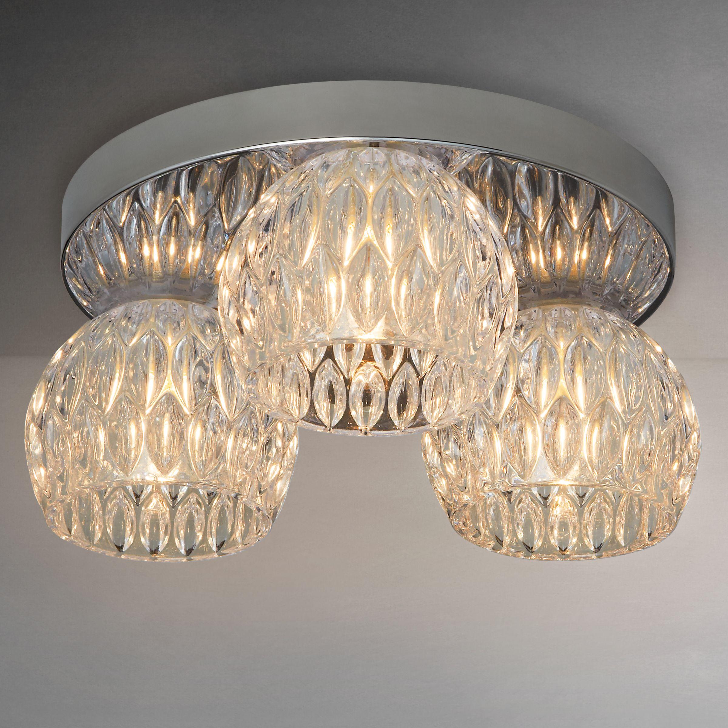 Flush Ceiling Lights John Lewis : John lewis emilia crystal drum flush ceiling light