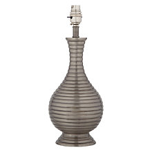 Buy John Lewis Gwen Urn Lamp Base, Antique Nickel Online at johnlewis.com