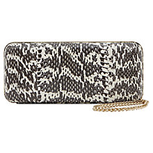 Buy Reiss Tarragon Snake Skin Clutch Bag Online at johnlewis.com