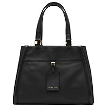 Buy Reiss Luggage Tag Harlow Leather Bag, Black Online at johnlewis.com