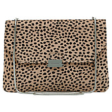 Buy Reiss Animal Print Across Body Envelope Jasmine Bag, Nude Online at johnlewis.com