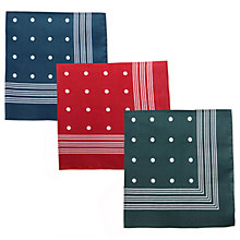 Buy Barbour Spotted Handkerchief, Pack of 3, Multi Online at johnlewis.com