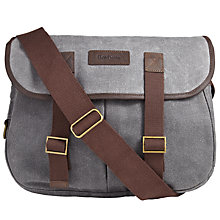 Buy Barbour Waxed Cotton Camera Bag, Olive Online at johnlewis.com
