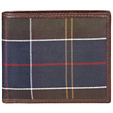 Buy Barbour Tartan and Leather Wallet, Tan Online at johnlewis.com