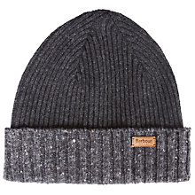 Buy Barbour Cassop Fleck Pom Hat, One Size, Charcoal Online at johnlewis.com