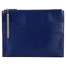 Buy Kaliko Leather Clutch Handbag, Cobalt Blue Online at johnlewis.com
