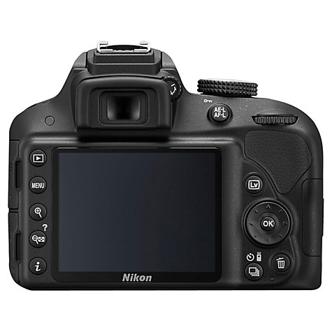 "Buy Nikon D3300 Digital SLR Camera with 18-55mm VR Lens, HD 1080p, 24.2MP, 3"" Screen Online at johnlewis.com"