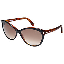 Buy TOM FORD FT0325 Cat's Eye Sunglasses, Black Online at johnlewis.com