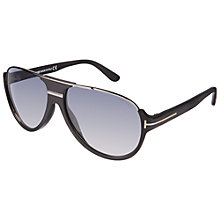 Buy TOM FORD FT0334 Dimitry Sunglasses, Black Online at johnlewis.com