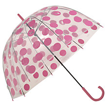 Buy Radley Moon Dots Birdcage Umbrella, Clear Online at johnlewis.com