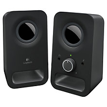 Buy Logitech Z150 Multimedia Speakers, Black Online at johnlewis.com
