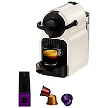 Buy Nespresso Inissia Coffee Machine with Aeroccino by KRUPS, White Online at johnlewis.com