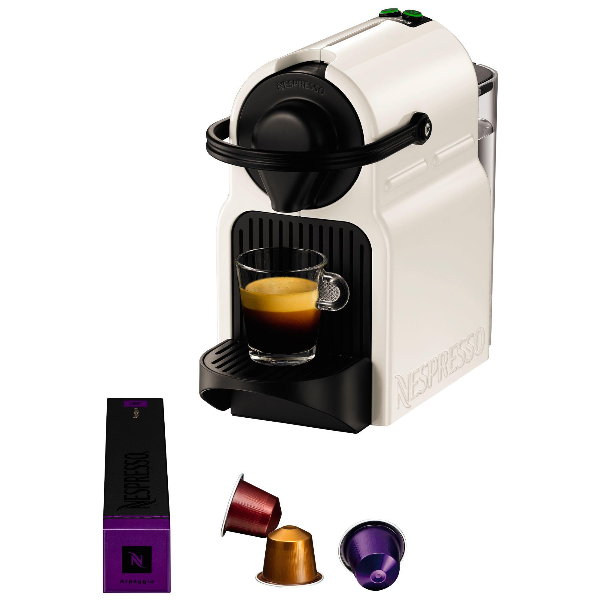 Krups Nespresso Inissia Coffee Machine with Aeroccino by KRUPS, White