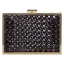 Buy Coast Perspex Weave Clutch Handbag, Gold Online at johnlewis.com