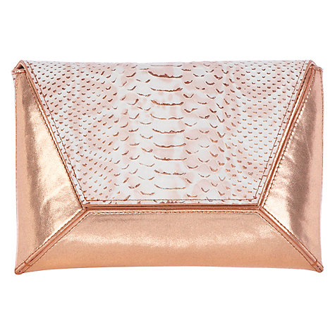 Buy Coast Snake Peony Clutch Bag, Gold Online at johnlewis.com