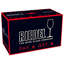 Buy Riedel Vinum Chardonnay Glasses, Set of 8 Online at johnlewis.com