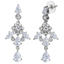 Buy Carolee Uptown Girl Chandelier Crystal Earrings, Silver Online at johnlewis.com