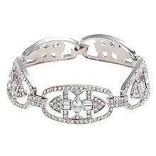 Buy Carolee Uptown Girl Ornate Crystal Link Bracelet, Silver Online at johnlewis.com