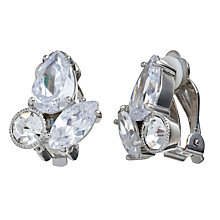 Buy Carolee Uptown Girl Navette Button Clip-On Earrings, Silver Online at johnlewis.com