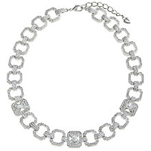 Buy Carolee Uptown Girl Ornate Crystal Link Necklace, Silver Online at johnlewis.com