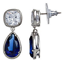 Buy Carolee Sapphire Glass Peardrop Drop Earrings, Blue Online at johnlewis.com