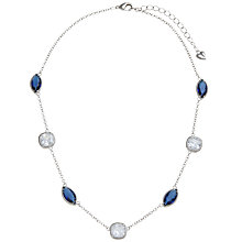 Buy Carolee Glass Crystal Illusion Collar Necklace, Sapphire Online at johnlewis.com