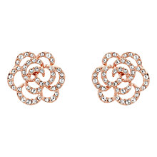 Buy Finesse Swarovski Crystal Flower Stud Earrings Online at johnlewis.com