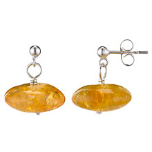 Buy Cobra & Bellamy Gemstone Bead Sterling Silver Drop Earrings Online at johnlewis.com
