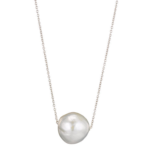 Buy Cobra & Bellamy Sterling Silver Chain Pearl Pendant Online at johnlewis.com