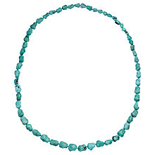 Buy Cobra & Bellamy Turquoise Nugget Bead Long Necklace Online at johnlewis.com