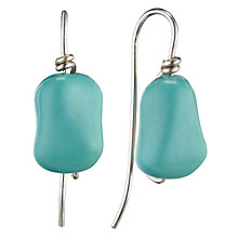 Buy Cobra & Bellamy Small Turquoise Chunk Sterling Silver Hook Earrings Online at johnlewis.com